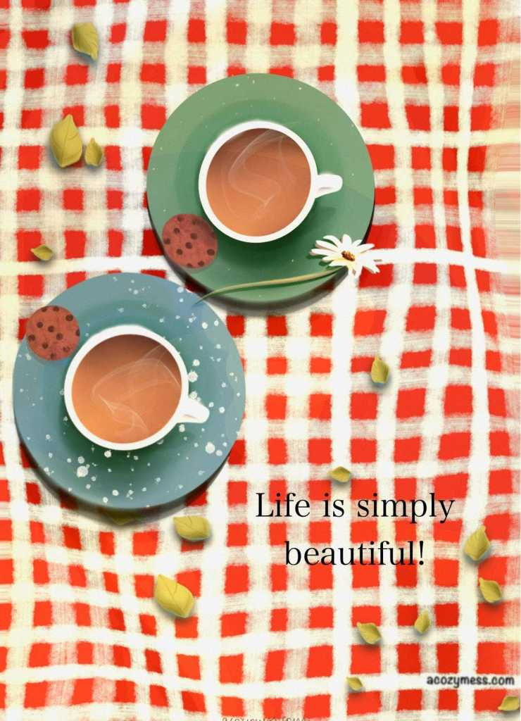 art tea coffee quote painting