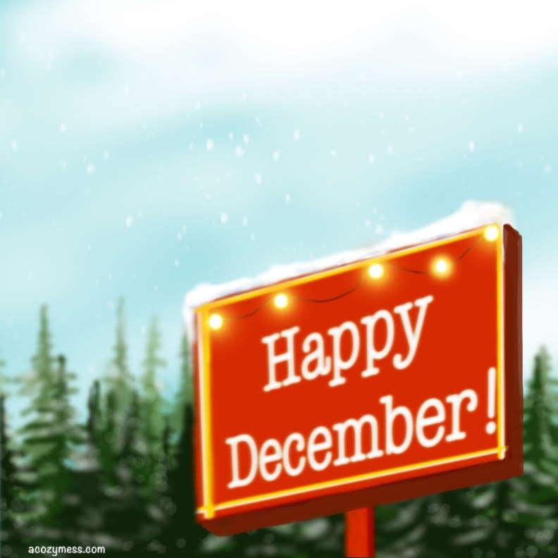 illustration december winter art procreate