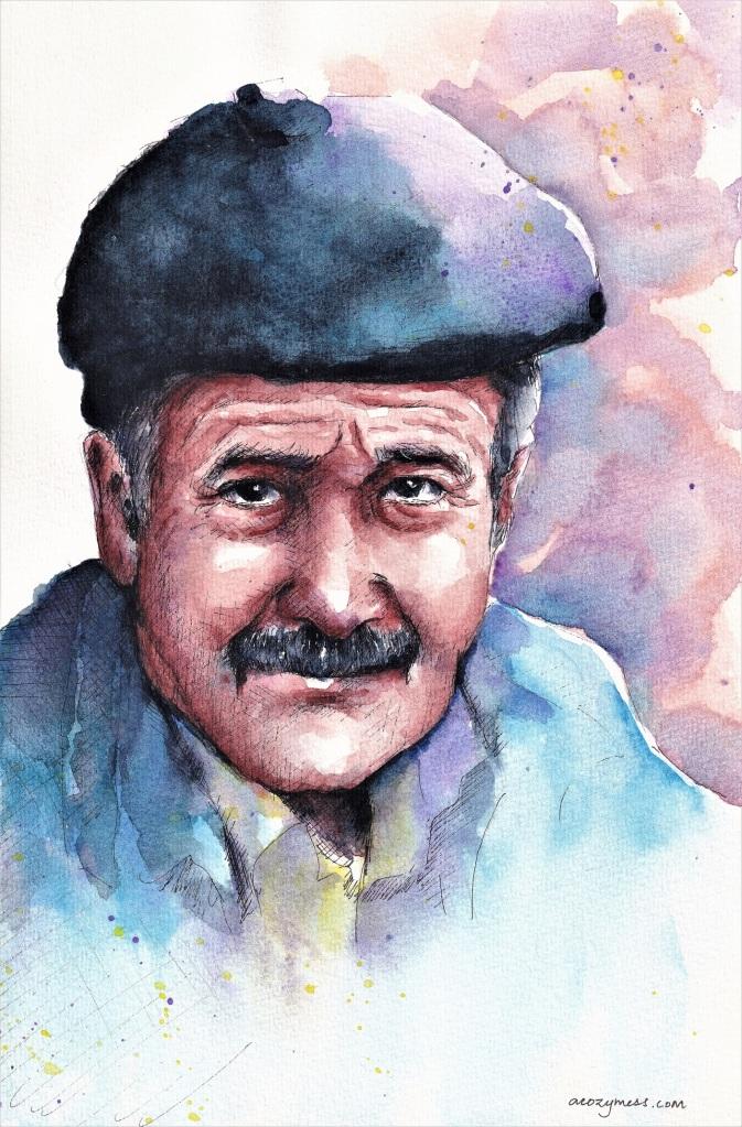 portrait painting watercolor